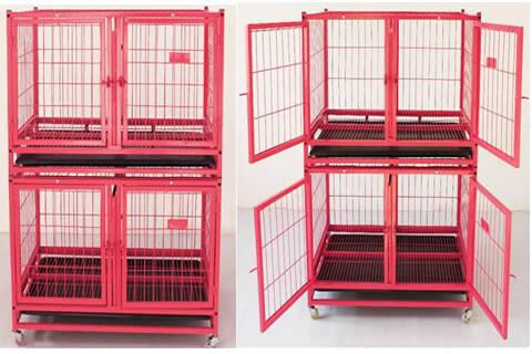 Double Door Tube Dog Cage